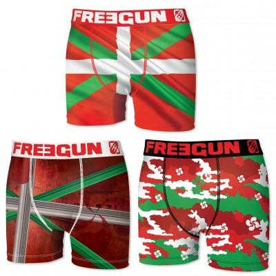 Freegun - Boxer homme pack X3